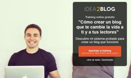 Aprende a hacer un blog desde 0 con Idea2Blog