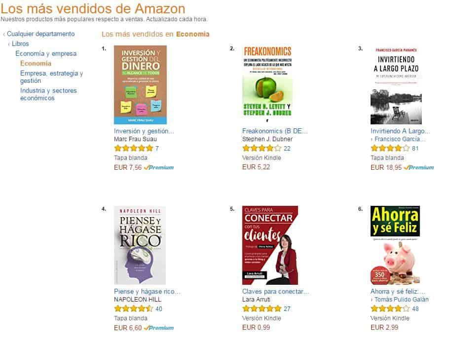 Libro número 1 en ventas  en la sección de economia