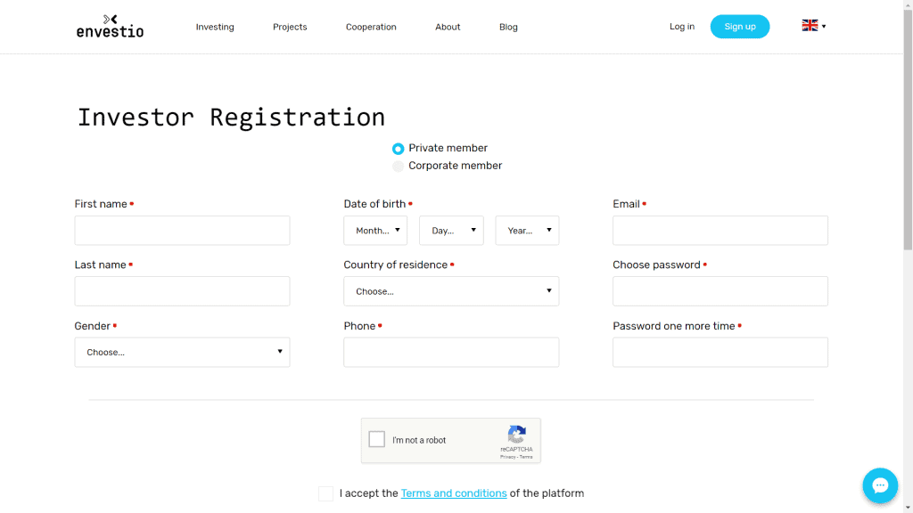 registro envestio